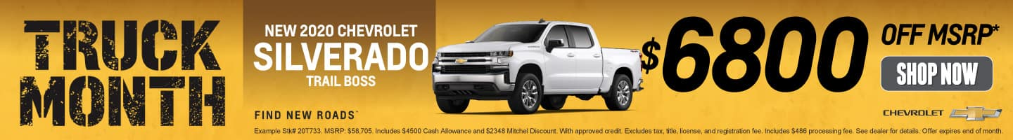 New 2020 Chevrolet Silverado - $6800 off MSRP - Shop Now