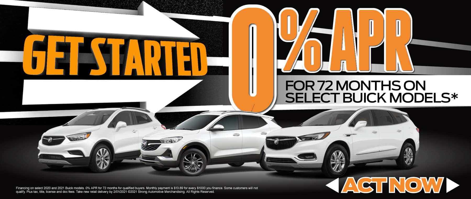 0% APR on Select Buick models - Act now