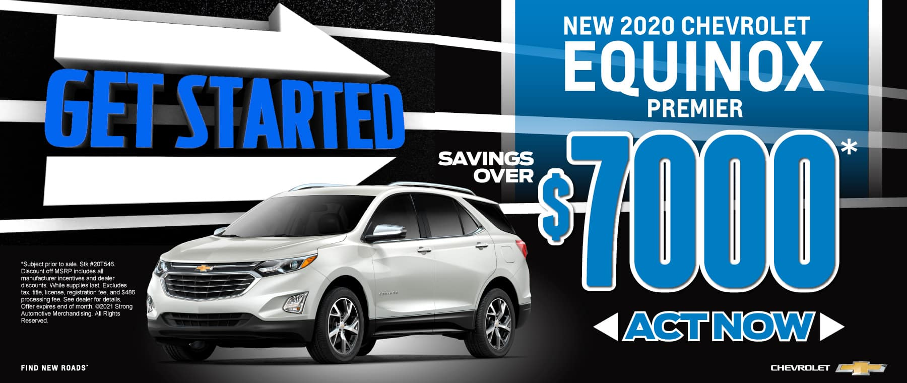 New 2020 Chevy Equinox - $7000 off - Act now