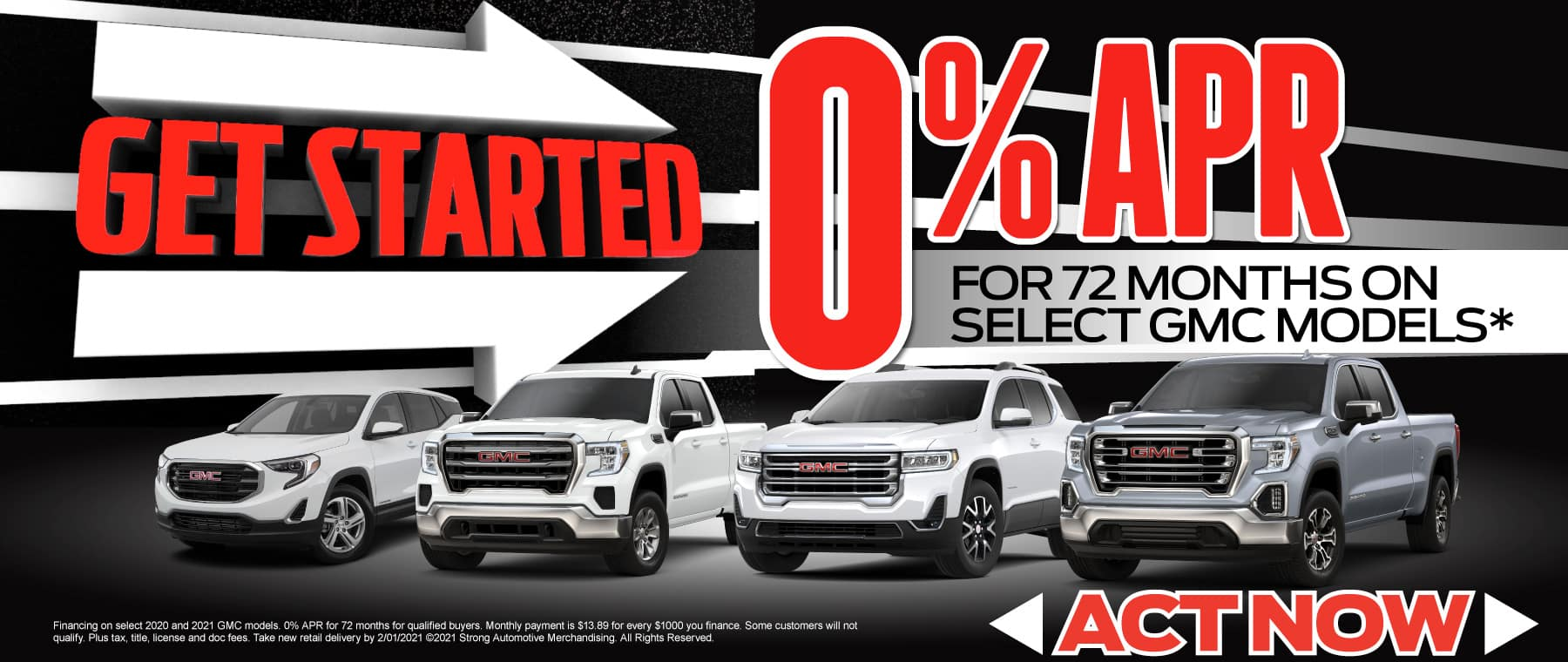 0% APR on Select GMC models - Act now