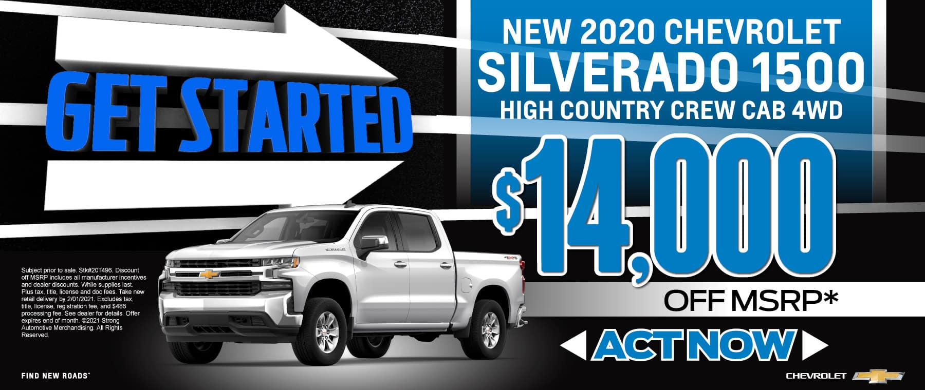 New 2020 Chevy Silverado - up to $14,000 off msrp - Act now