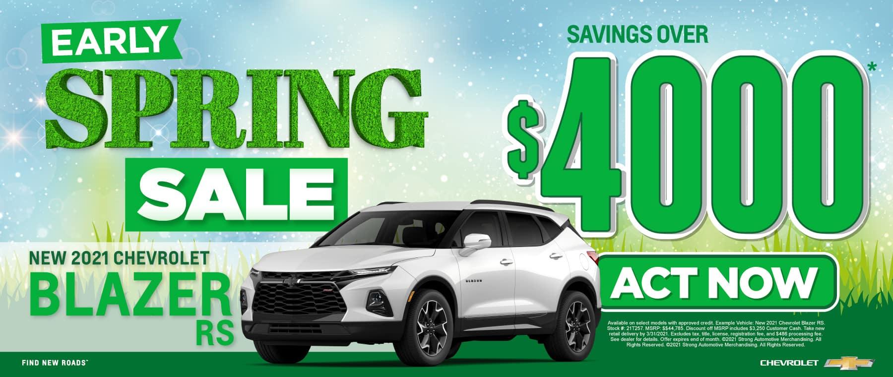 New 2021 Chevy Blazer - Savings of $4000 - Act Now