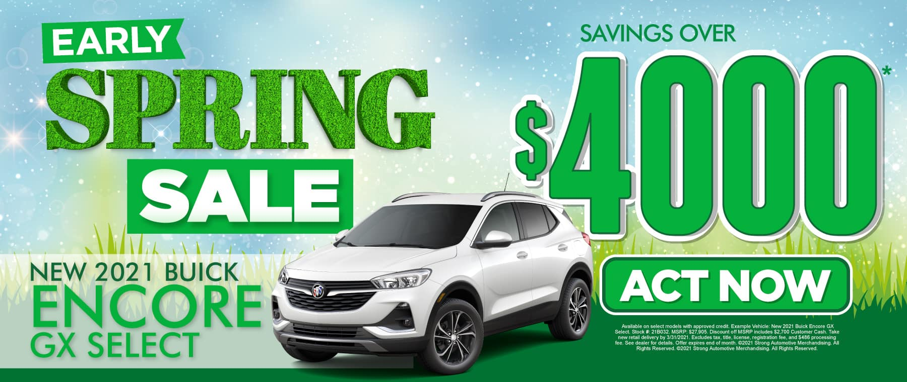 New 2021 Buick Encore - Savings of $4000 - Act Now