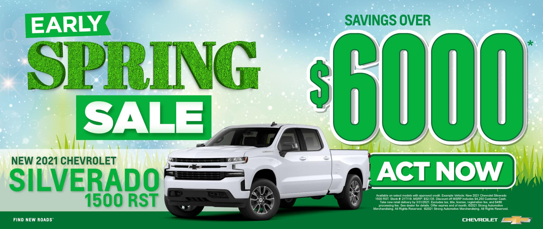 New 2021 Chevy Silverado - Savings of $6000 - Act Now