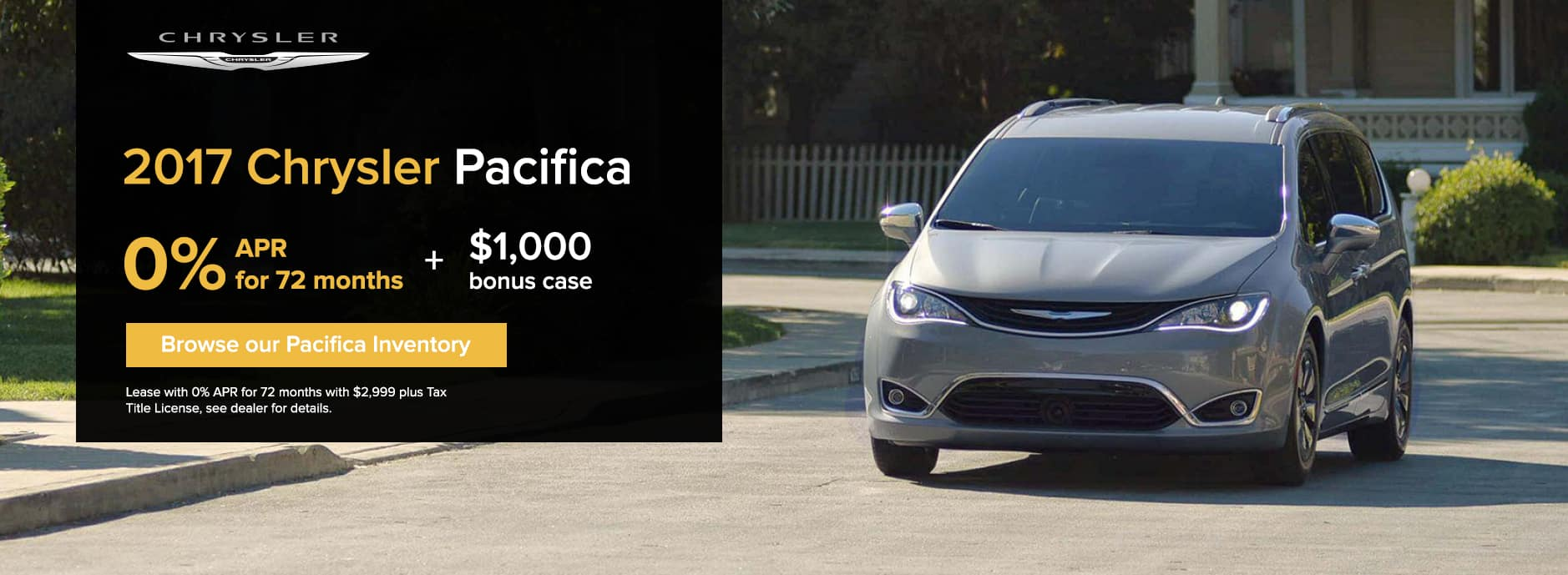 Chrysler Pacifica November Offer Zeigler CDJ