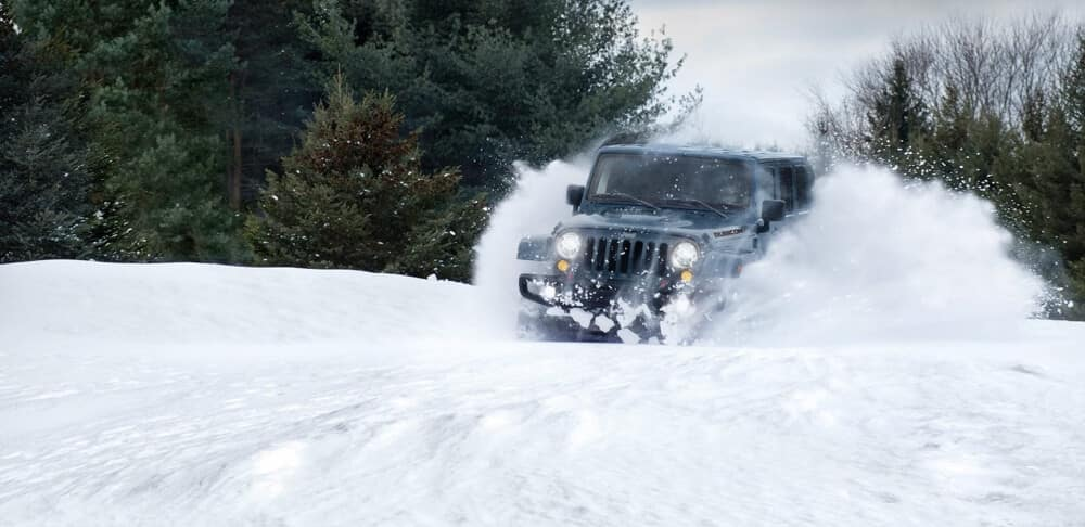 2018 Jeep Wrangler JK In Snow