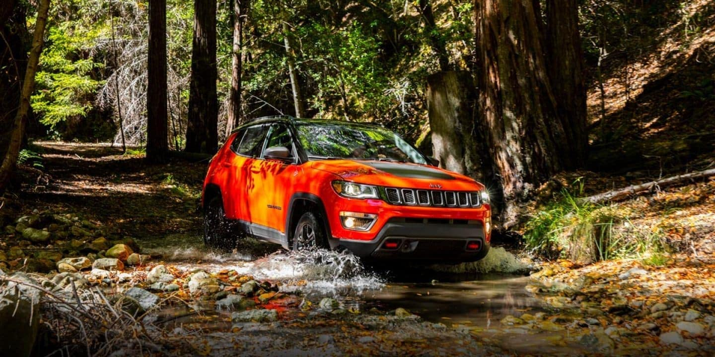 2019 Jeep-Compass Capability Trailhawk Orange Front in Forest