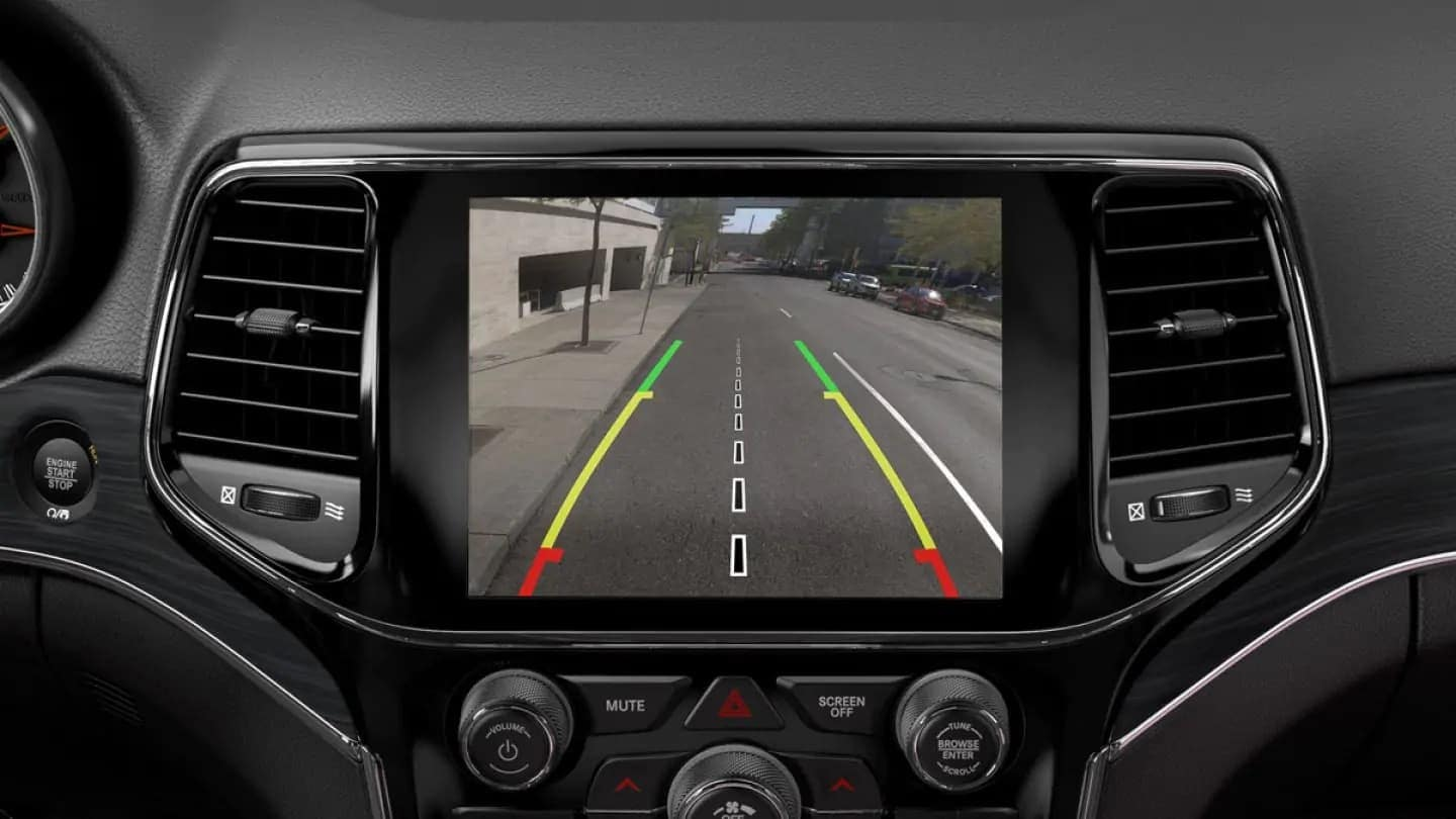 2019 Jeep Grand Cherokee interior lane departure safety feature