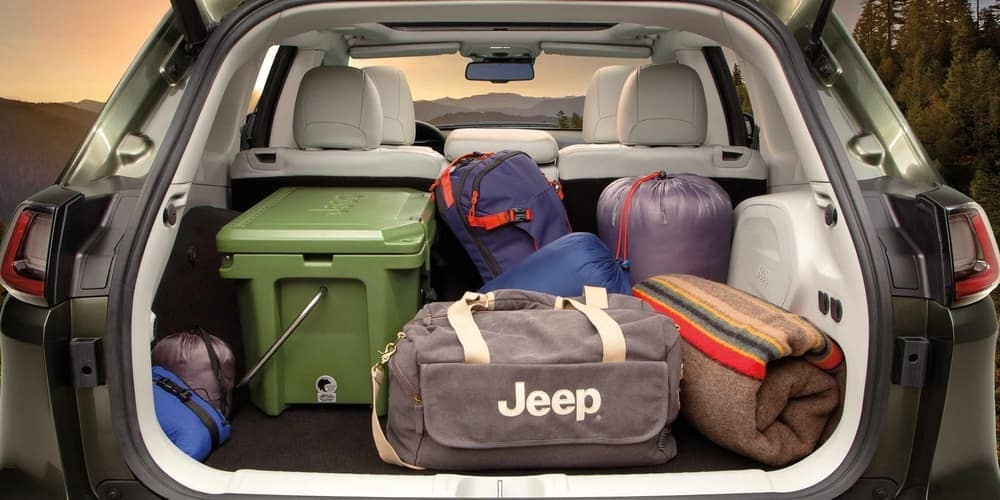 2019 Jeep Cherokee cargo space in trunk