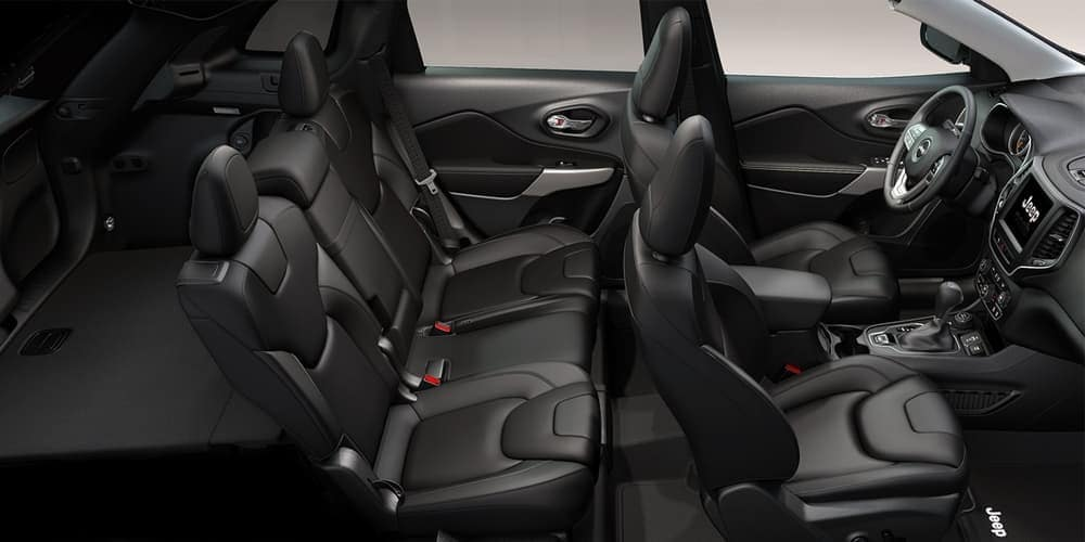 2019 Jeep Cherokee interior seating black leather