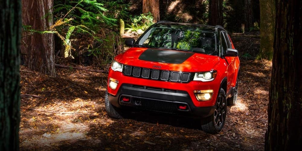 2019 Jeep Compass driving off road