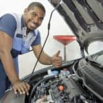 African American Auto Tech Gives Thumbs Up