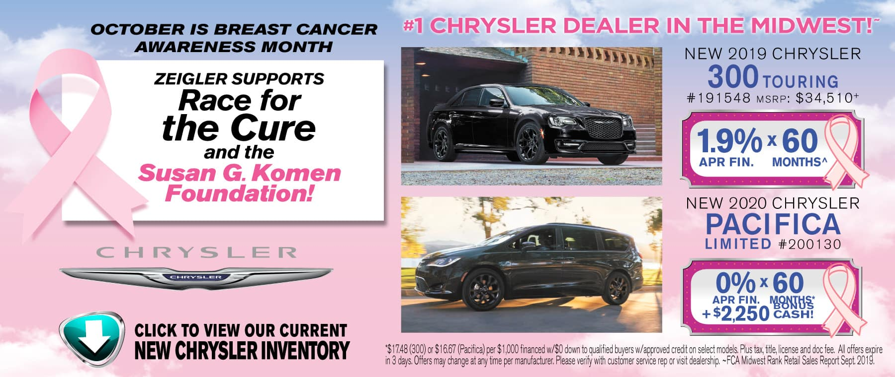 Breast Cancer Chrysler Pacifica touring
