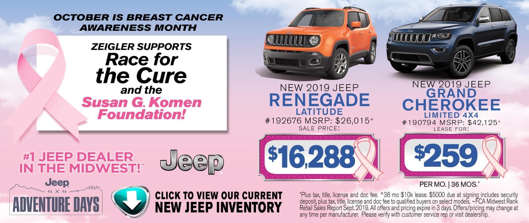 Breast Cancer Renegade Grand Cherokee